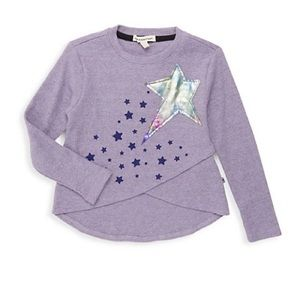 Appaman Girl's Penelope High-Low Star Patch Top